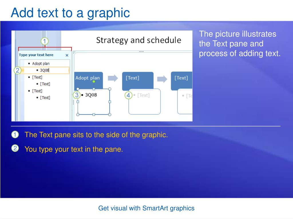 Add text to a graphic