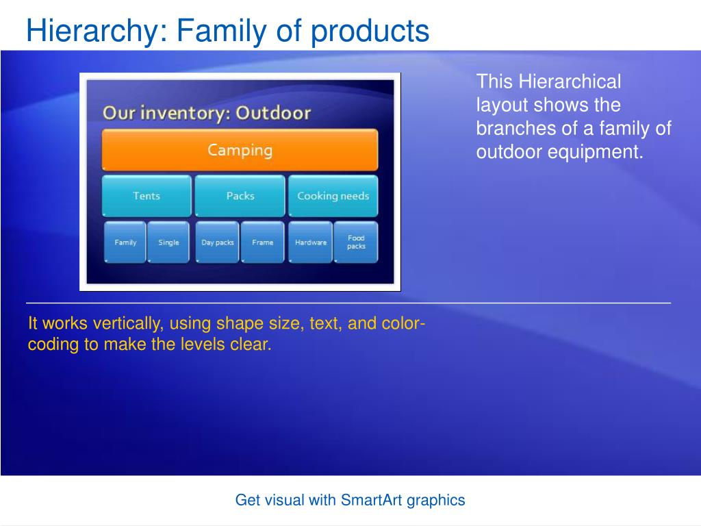 Hierarchy: Family of products