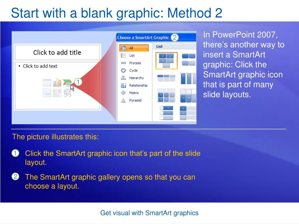 Start with a blank graphic: Method 2