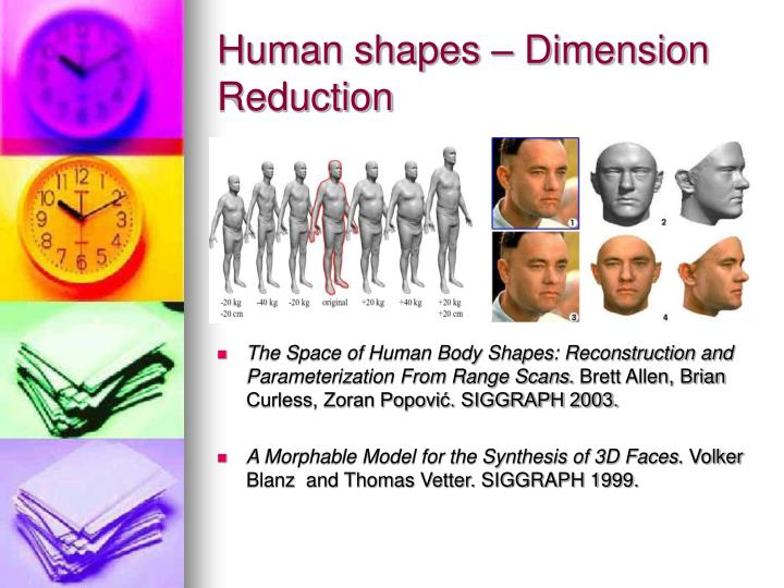 Human shapes – Dimension Reduction