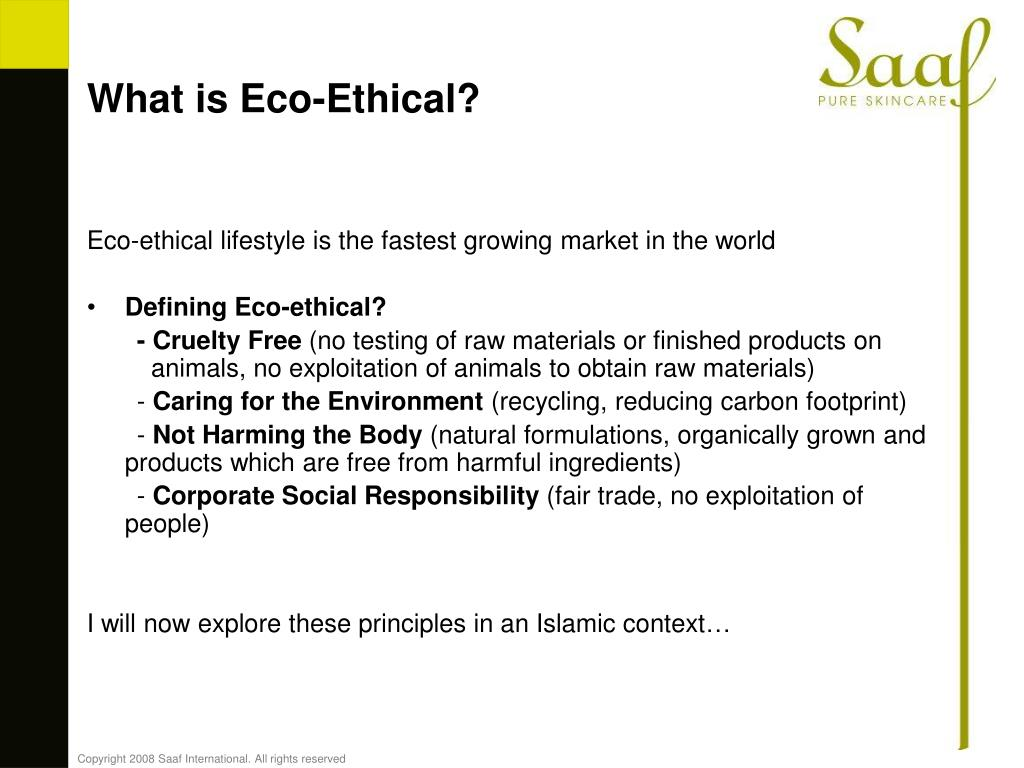 What is Eco-Ethical?