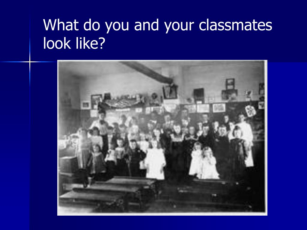 What do you and your classmates