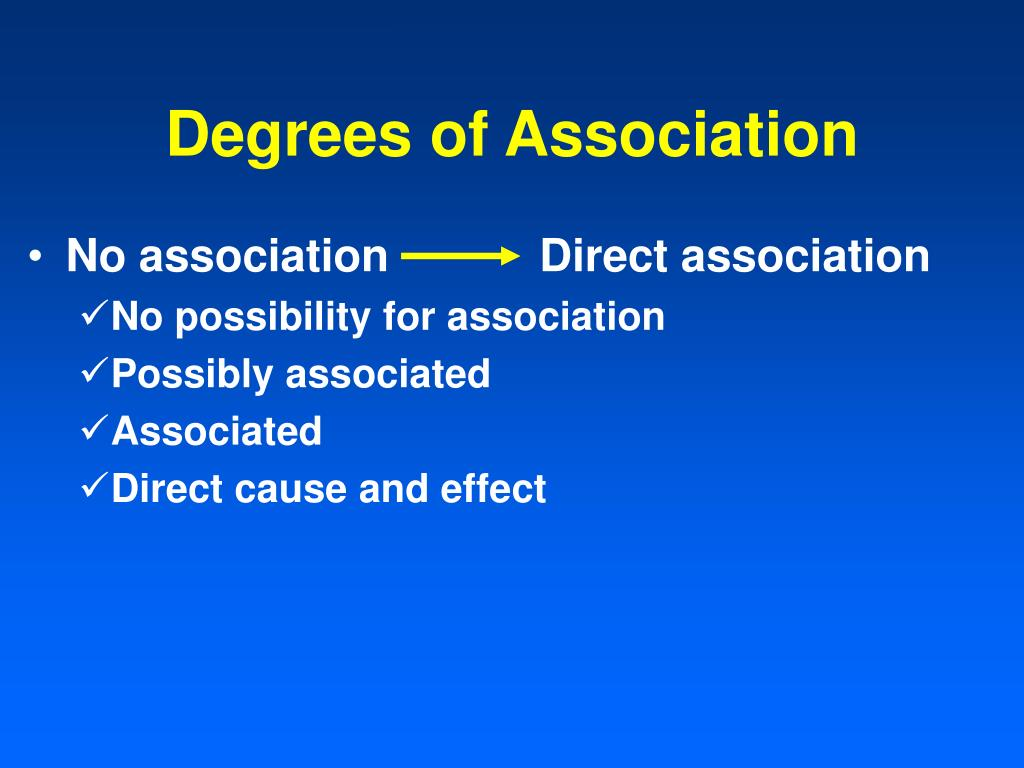 Degrees of Association