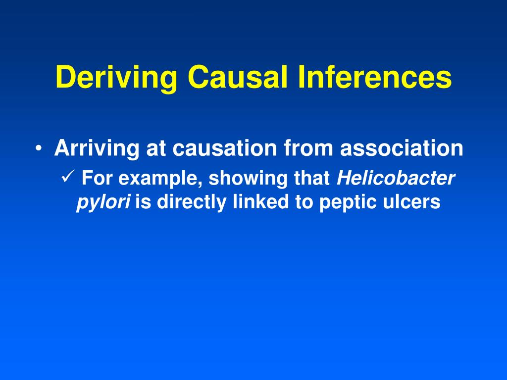 Deriving Causal Inferences