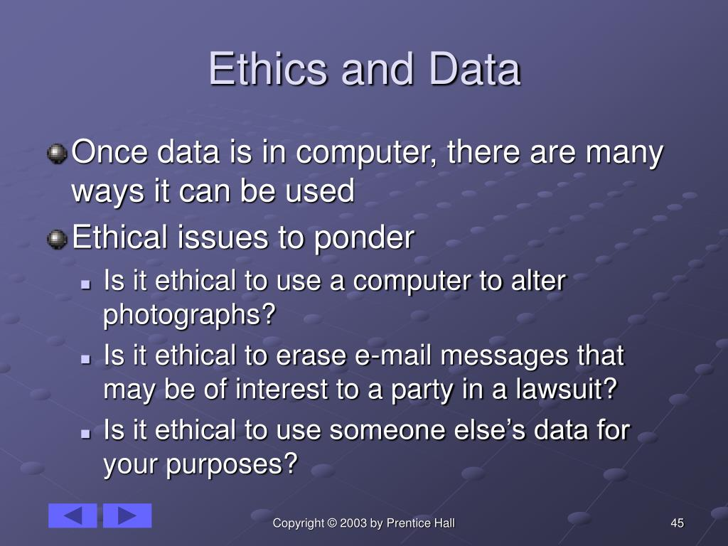Ethics and Data