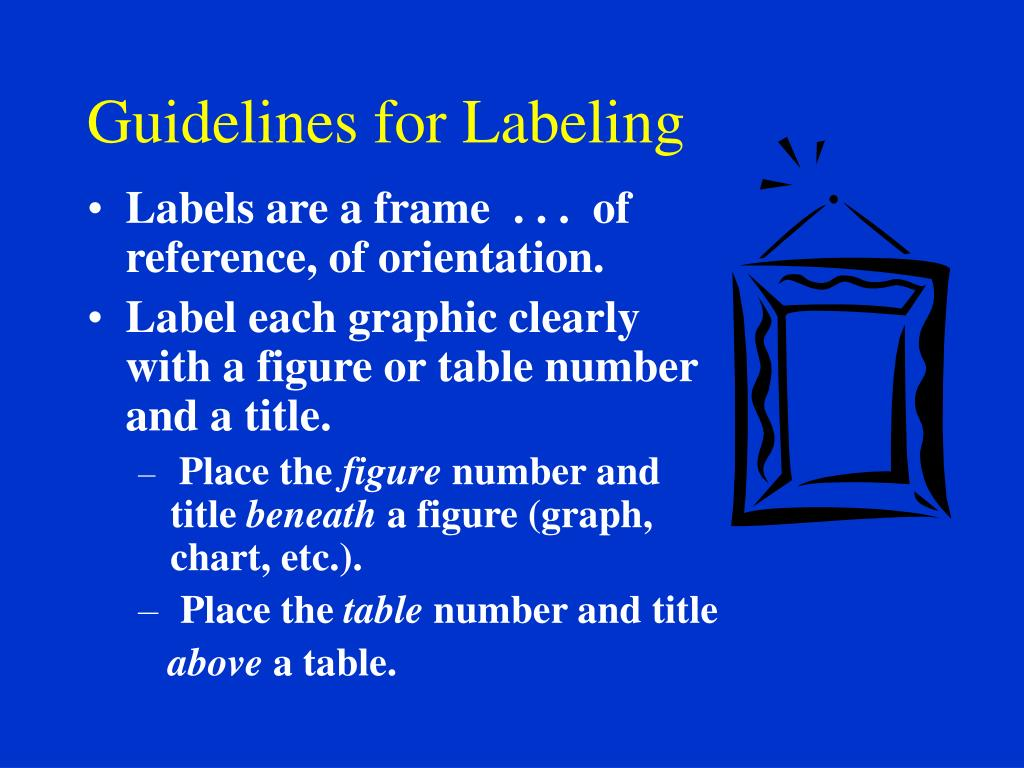 Guidelines for Labeling