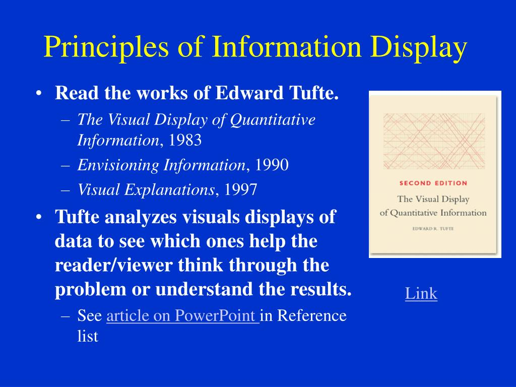 Principles of Information Display