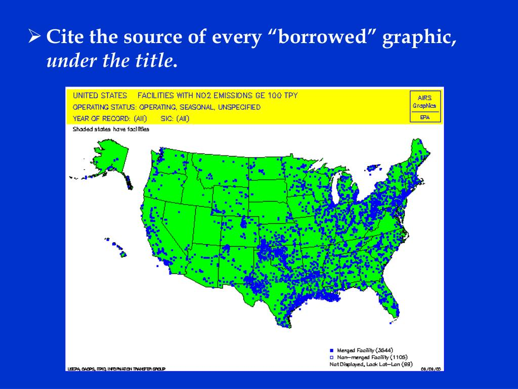 """Cite the source of every """"borrowed"""" graphic,"""