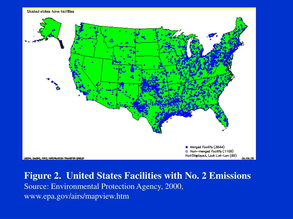 Figure 2.  United States Facilities with No. 2 Emissions