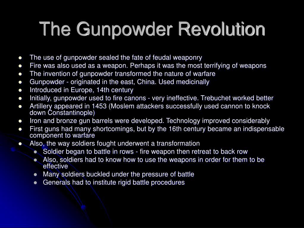 The Gunpowder Revolution