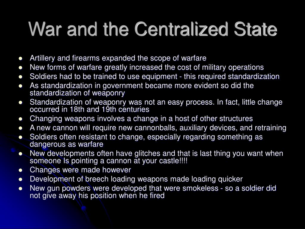 War and the Centralized State