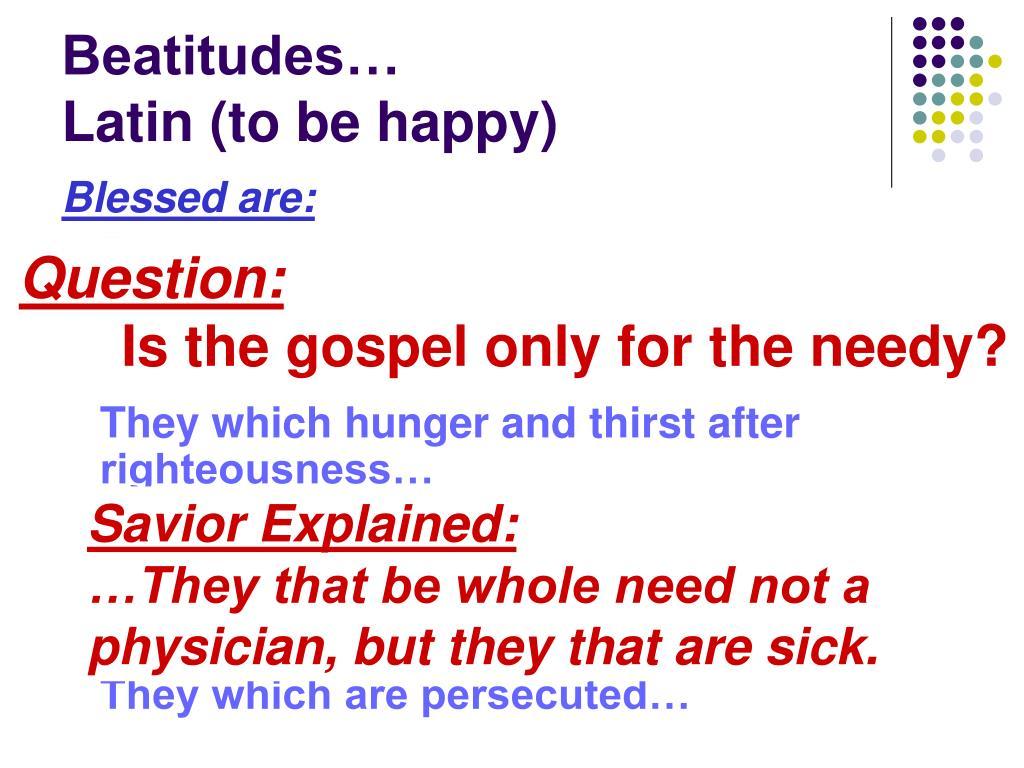 Beatitudes…