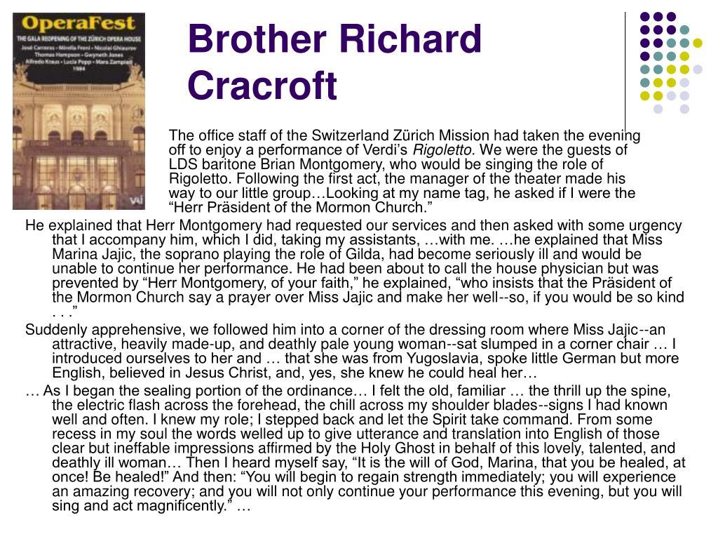 Brother Richard Cracroft