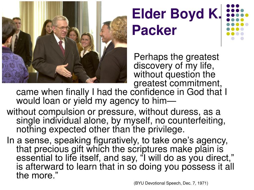 Elder Boyd K. Packer