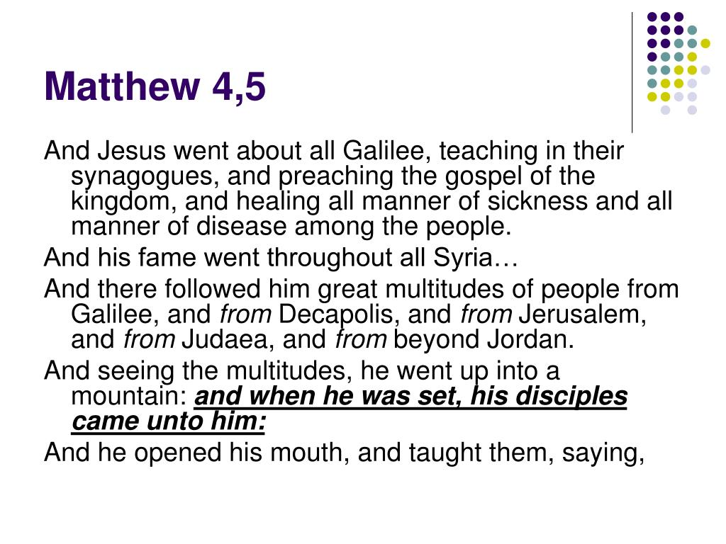 Matthew 4,5