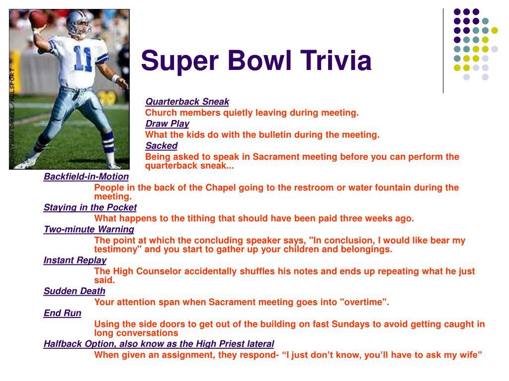 Super Bowl Trivia