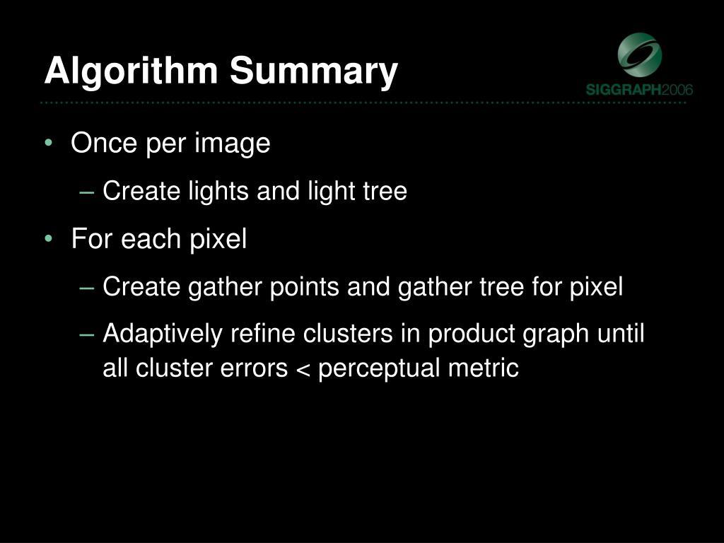 Algorithm Summary