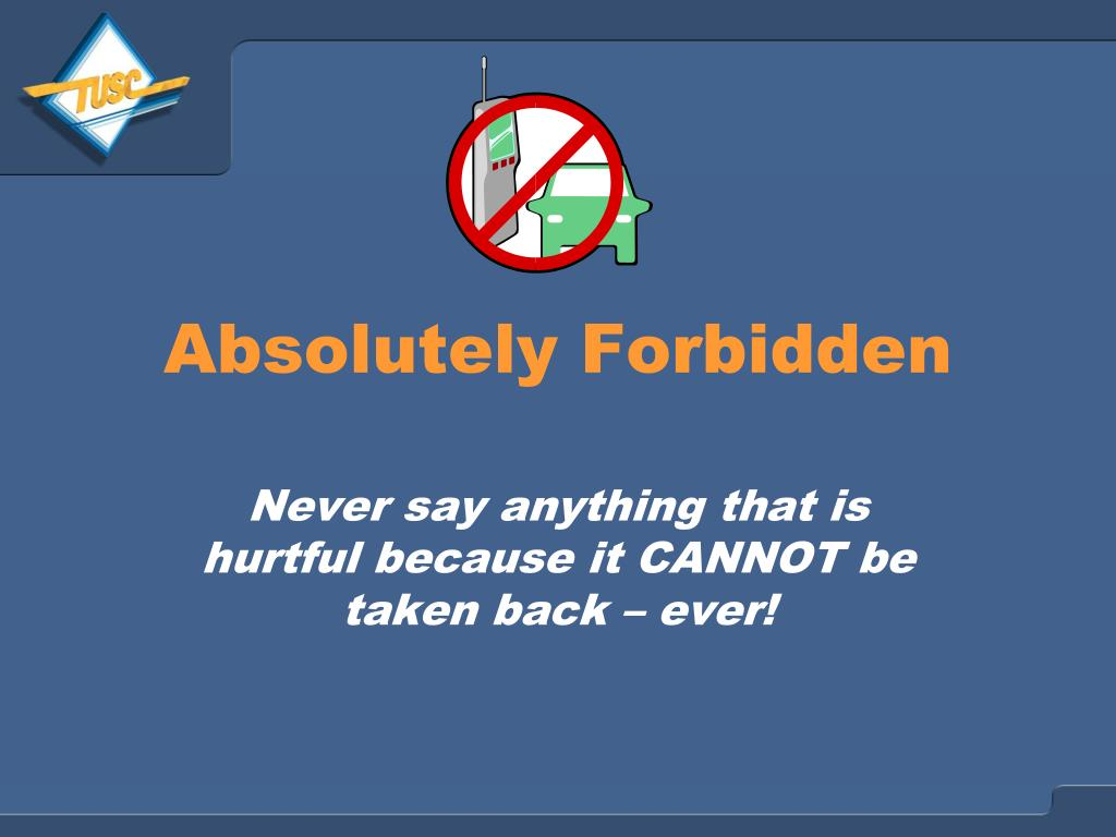 Absolutely Forbidden