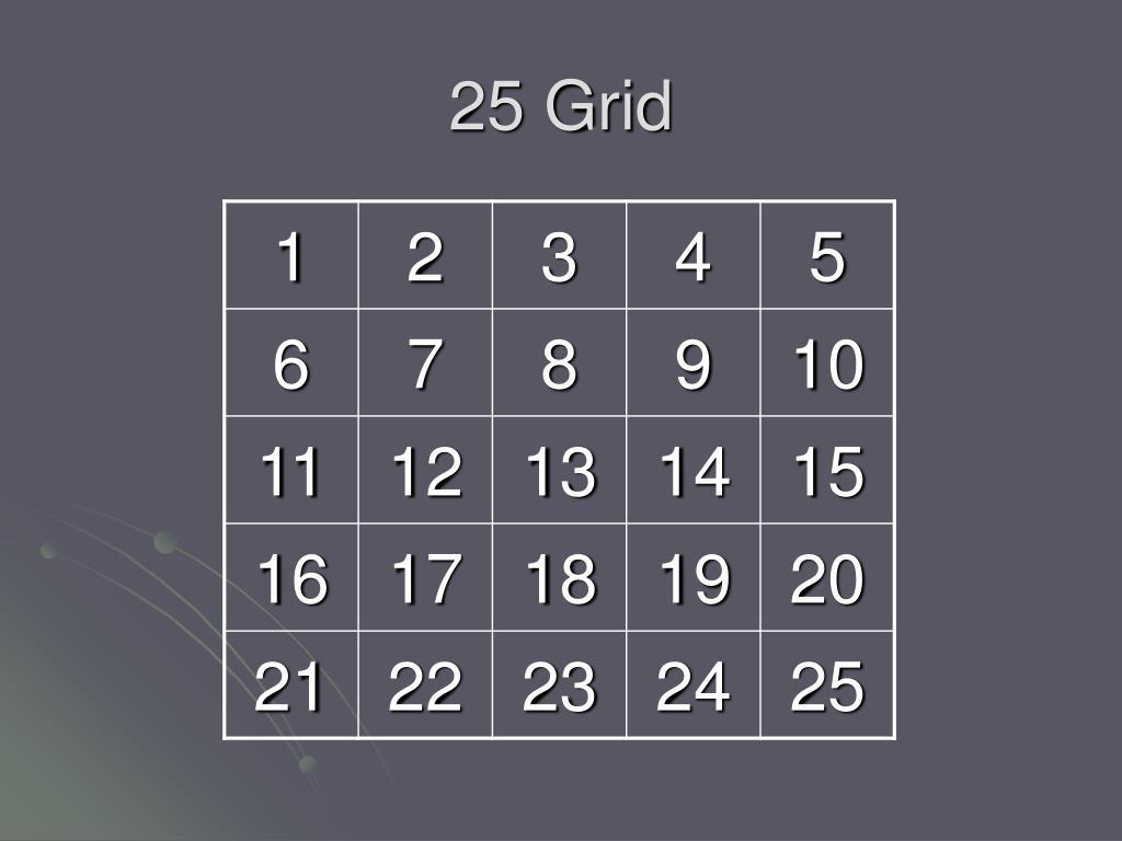 25 Grid
