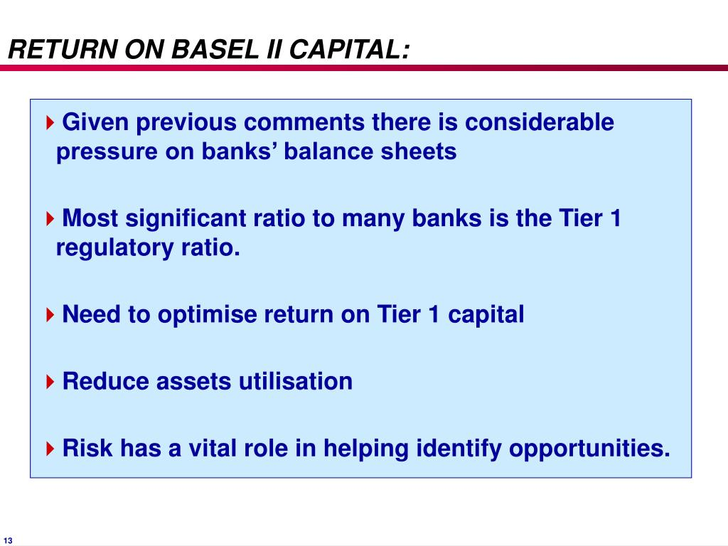 RETURN ON BASEL II CAPITAL: