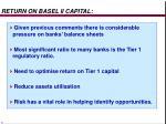 return on basel ii capital