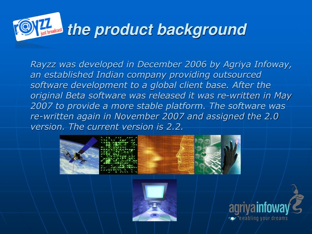the product background