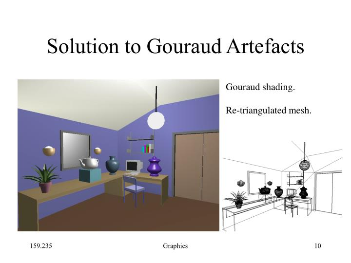 Solution to Gouraud Artefacts