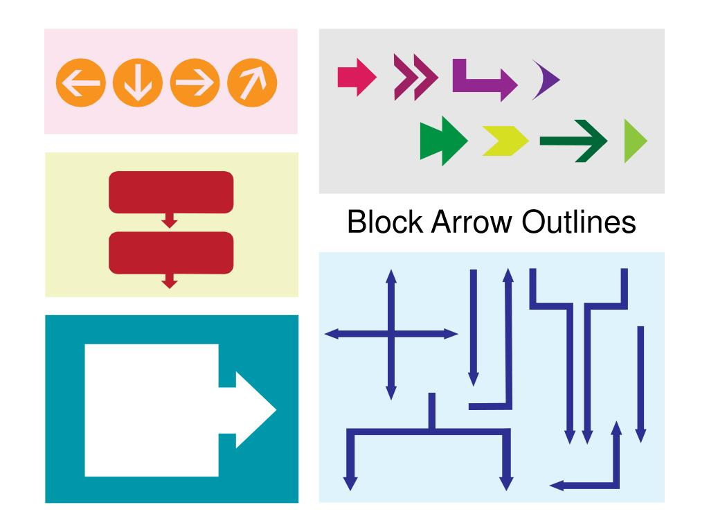 Block Arrow Outlines