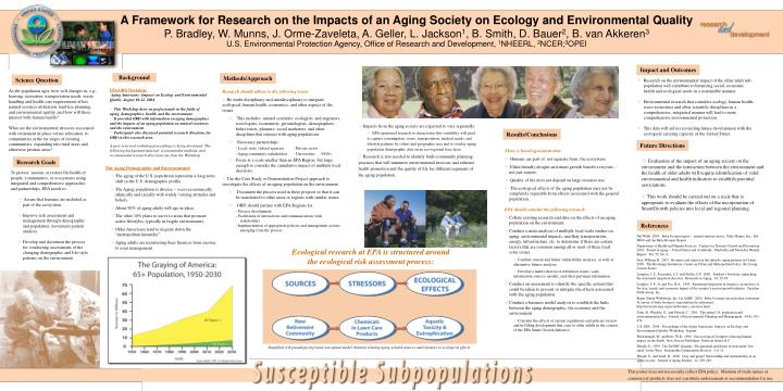 Simplified risk paradigm (top) and conceptual model (bottom) relating aging-related sources and stre...