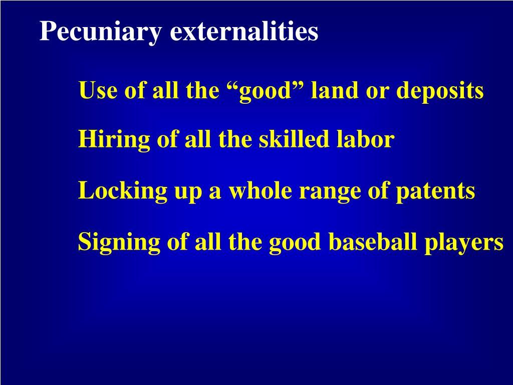Pecuniary externalities