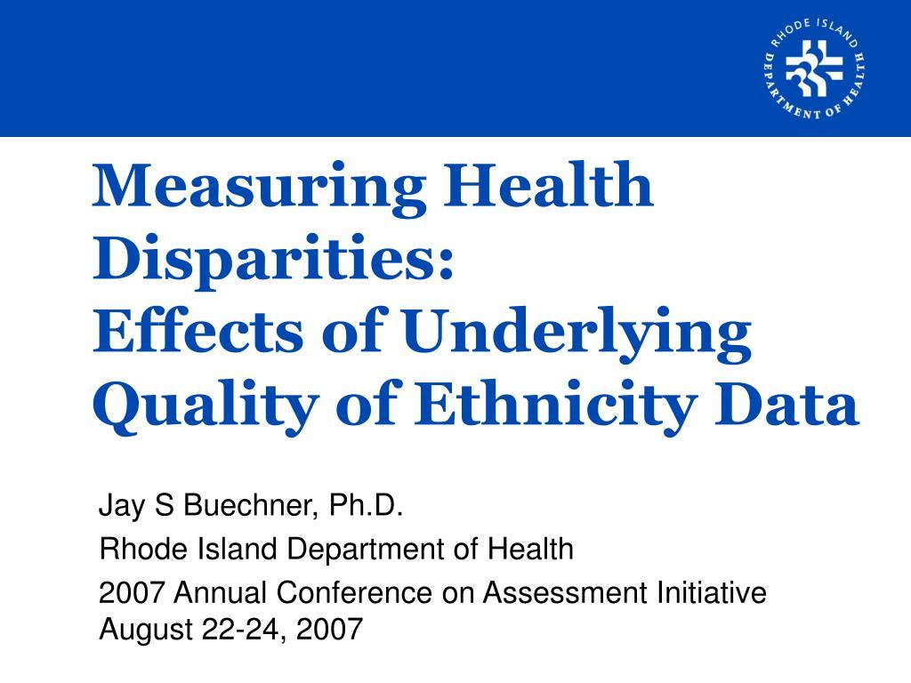 Measuring Health Disparities: