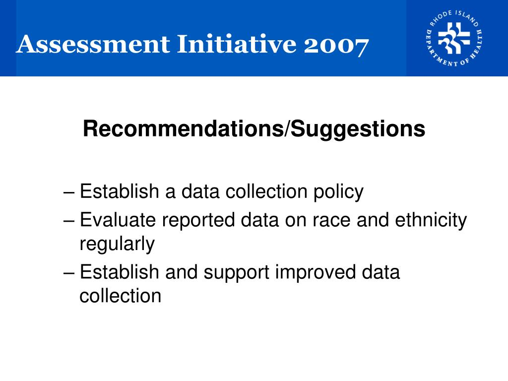 Assessment Initiative 2007