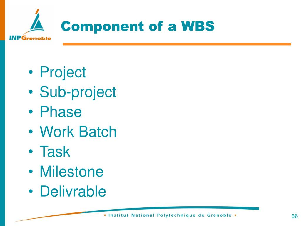 Component of a WBS