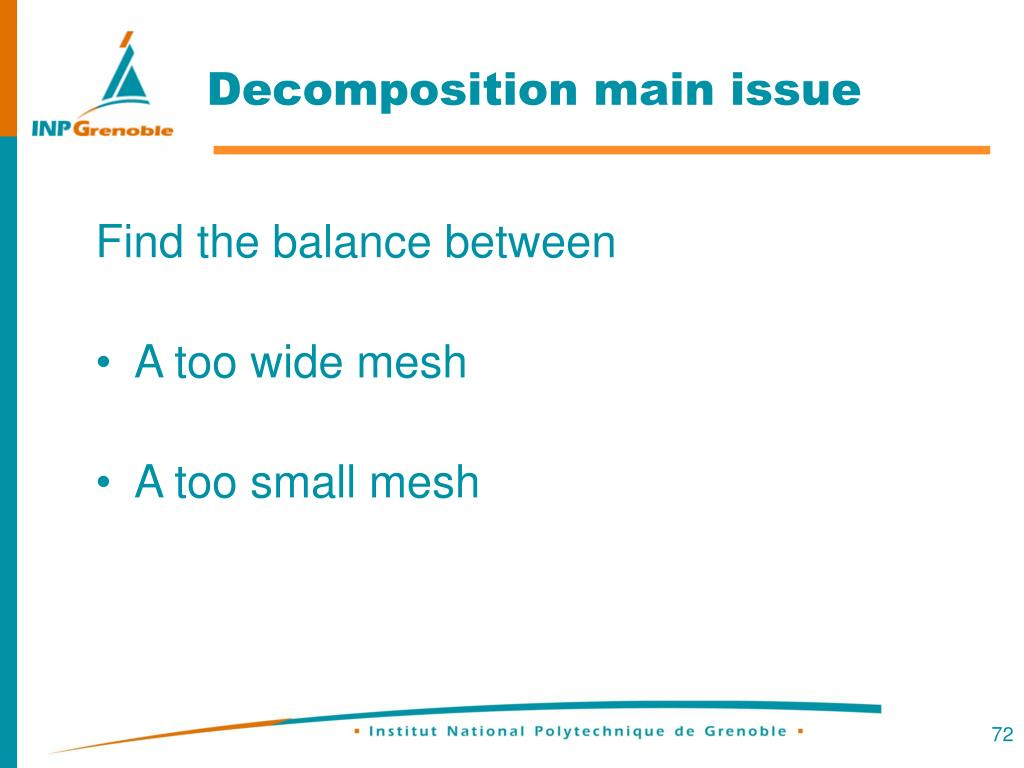 Decomposition main issue