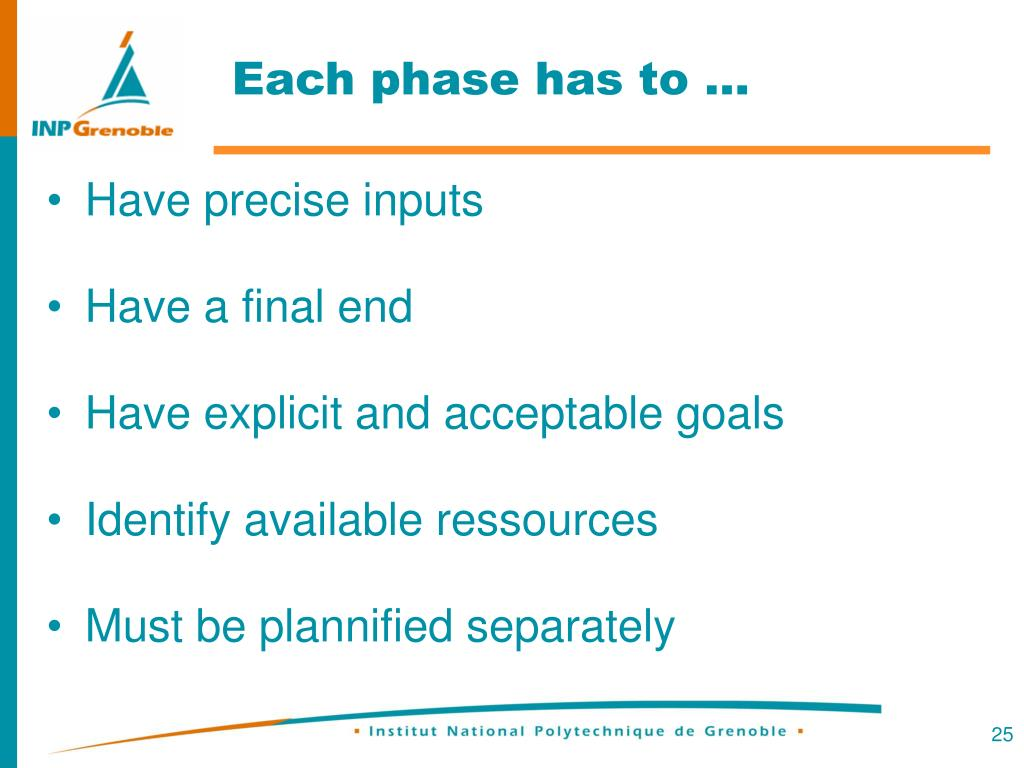 Each phase has to …