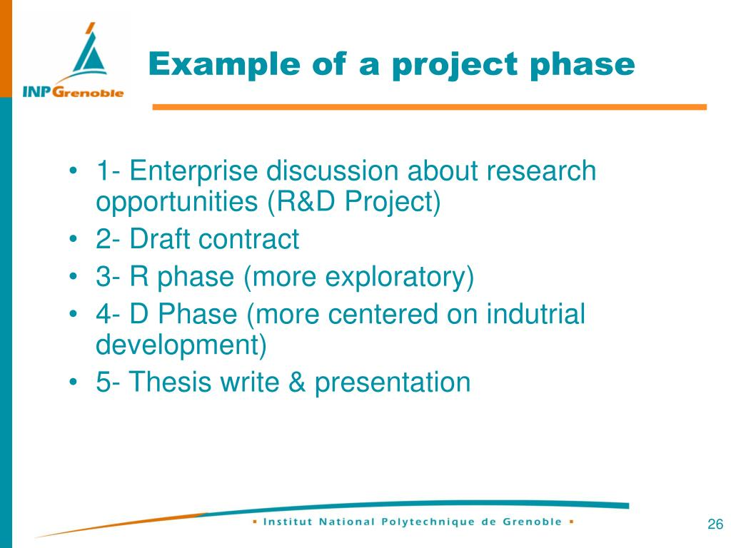Example of a project phase