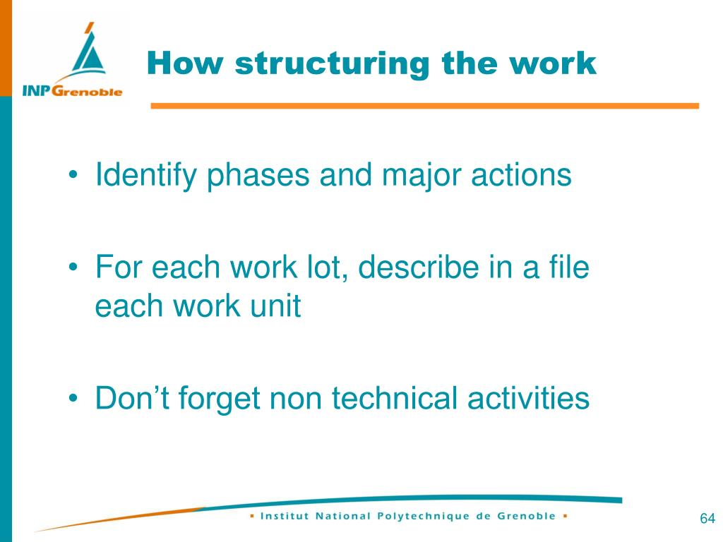 How structuring the work