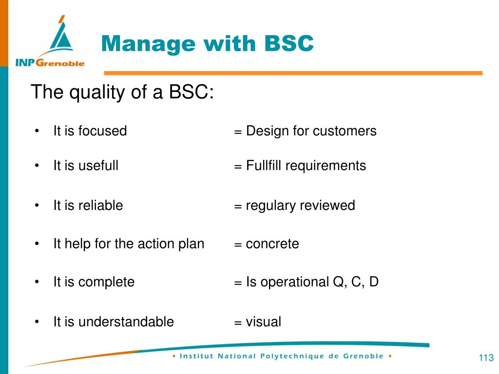 Manage with BSC