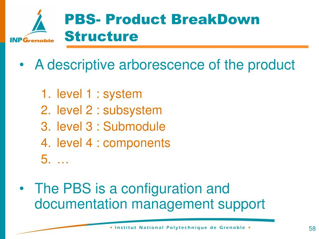 PBS- Product BreakDown Structure
