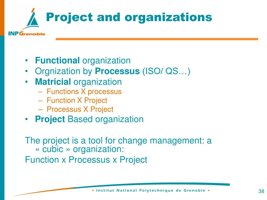 Project and organizations