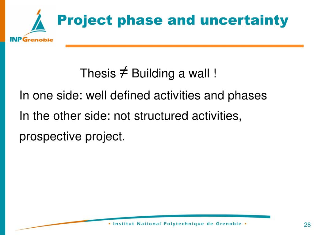 Project phase and uncertainty