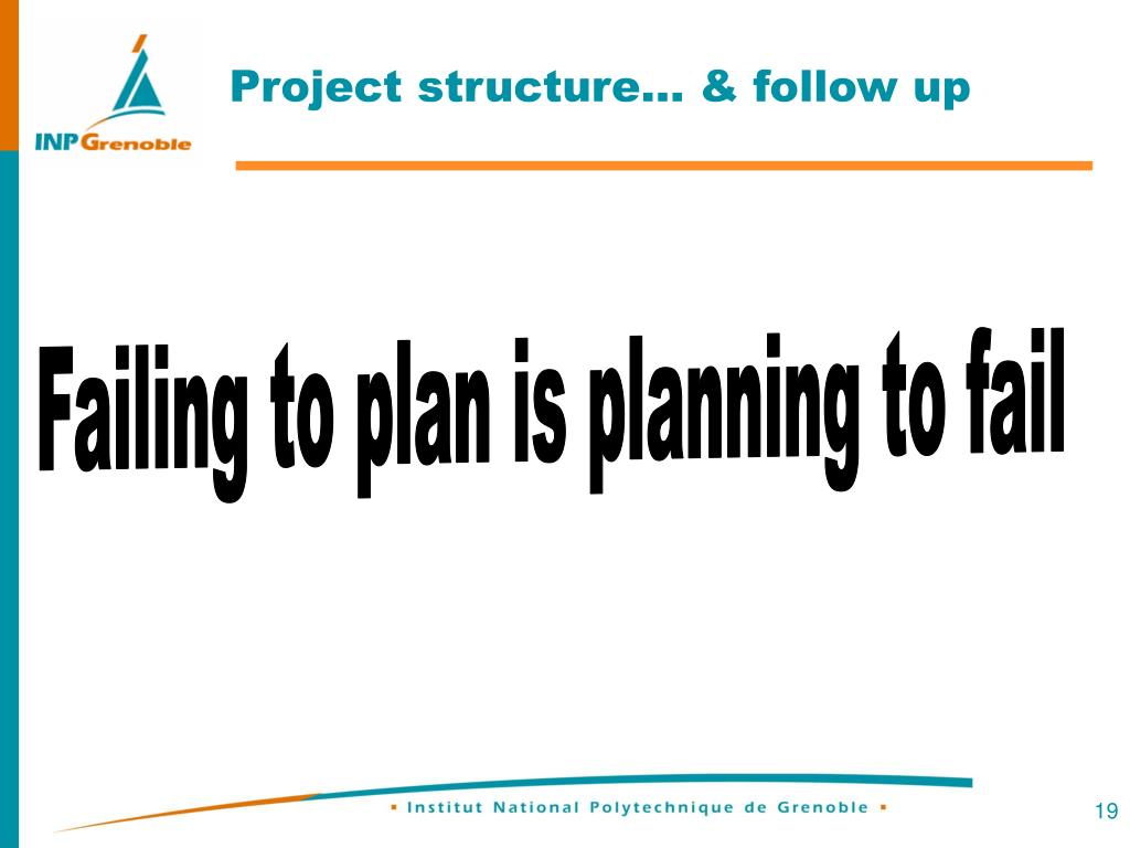 Project structure… & follow up