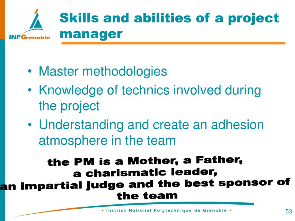 Skills and abilities of a project manager