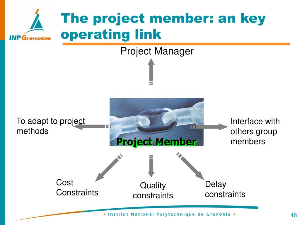 The project member: an key operating link