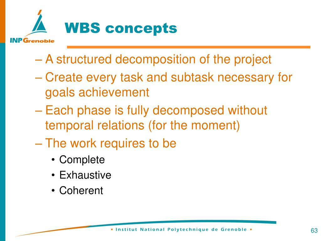 WBS concepts