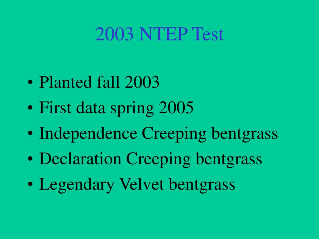 2003 NTEP Test