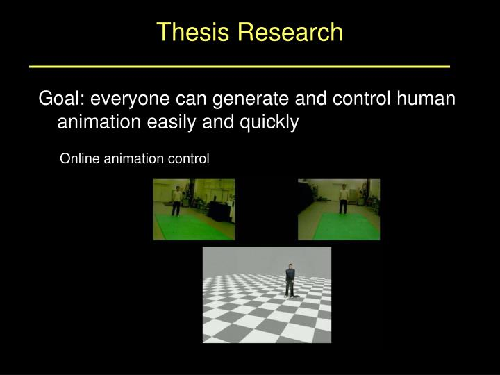 Thesis Research