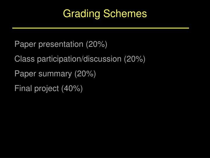 Grading Schemes