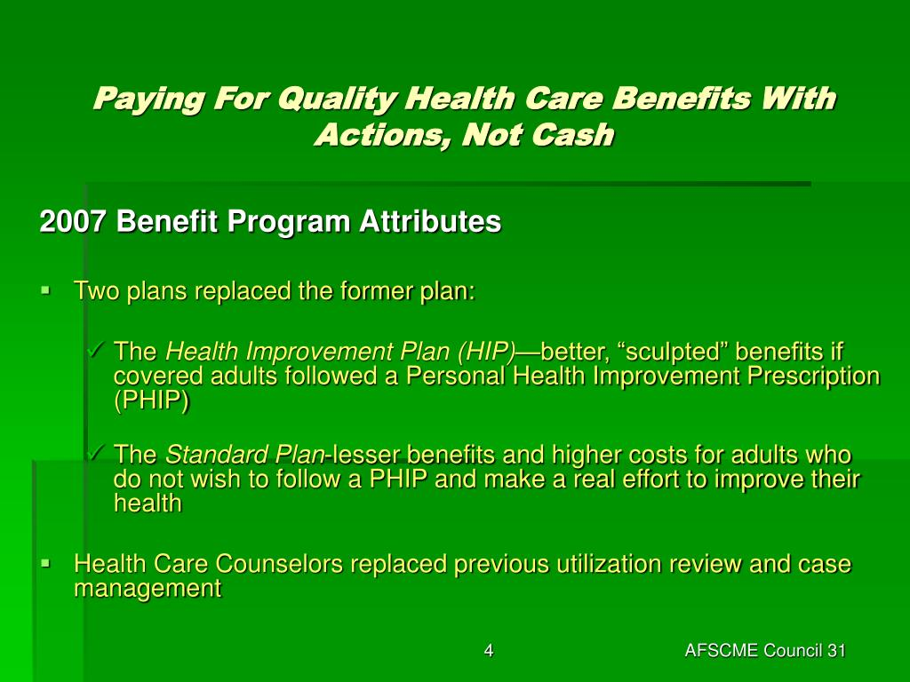 Paying For Quality Health Care Benefits With Actions, Not Cash