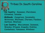 tribes in south carolina